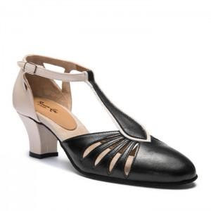 Premium Line Damenschuhe 9210 schwarz beige