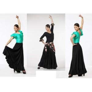 Flamenco-Tellerrock mit 1 Volant