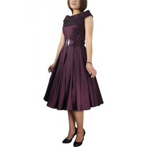 ChicStar Rockabilly Vintage Kleid m. Schal-Kragen