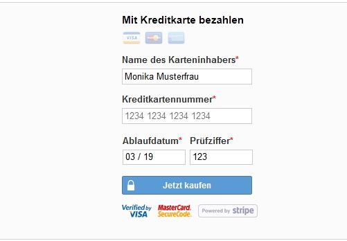 Kreditkarten-Zahlung