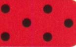 313 rot - schwarz gepunktet